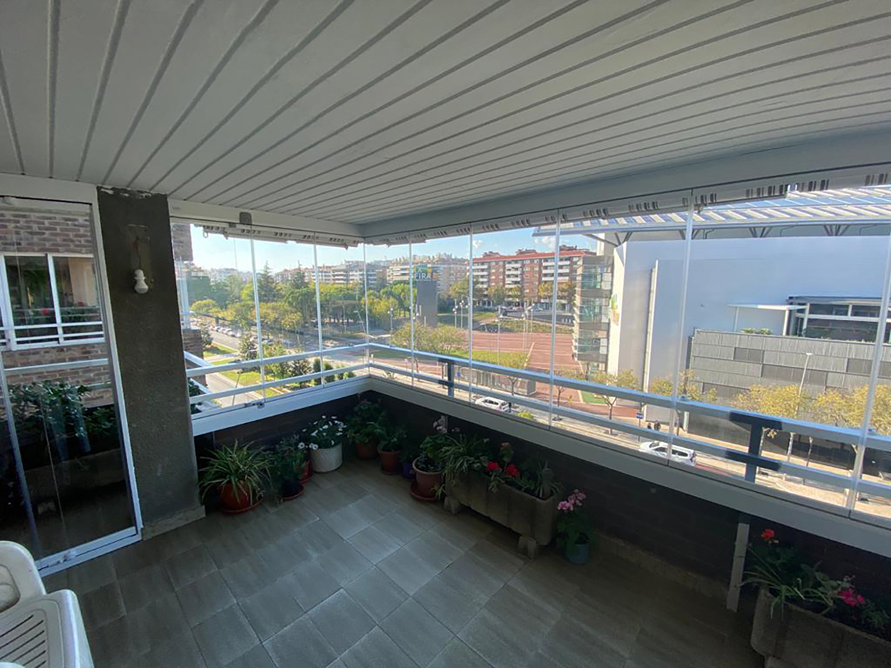 cierre de terraza con cristales